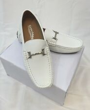 MEN GIOVANNI DRESS SHOES Loafer Casual Italian Style Slip-On Solid WHITE NEW