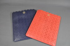 NWT Tory Burch  Kelsey Leather iPad  2 3 4 iPad Air Sleeve Case Leather Red Blue