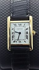 CARTIER TANK CLASSIC LADIES WATCH 18K SOLID GOLD!! BEAUTIFUL!!