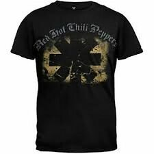 Red Hot Chili Peppers Textured Logo T-Shirt Black Large XXL Rock & Roll New