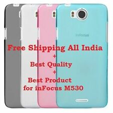 For InFocus M530 Soft TPU Pudding Sillione Skin Back Protective Cover Case For