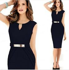 Elegant Womens Sleeveless Slim Bodycon Evening Party Cocktail Pencil Dress A47