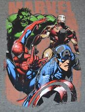MARVEL Comics Avengers Hulk Captain America Ironman Spider-man Adult T-Shirt Tee