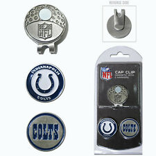 Indianapolis Colts NFL Team Golf Cap Clip with 2 Magnetic Enamel Ball Markers