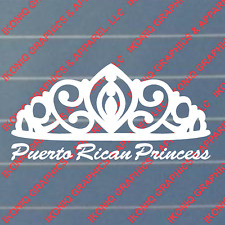 Puerto Rican Princess Decal / Sticker