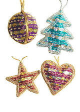BNWT Namaste Large Bead and Sequin Christmas Decorations!!