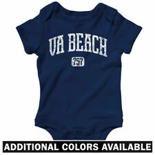 Virginia Beach 757 One Piece - Norfolk VA Baby Infant Creeper Romper - NB to 24M