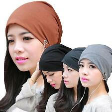 Spring Tide Men Women Hip Hop Metal Ring Warm Beanie Hedging Cap Soft Cotton Hat