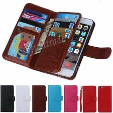 Removable Magnetic PU Leather Detachable Wallet Card Case For iPhone 6 4.7 Cover