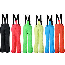 Boys Girls Outdoor Waterproof Ski Snowboarding Pants Salopettes Skiing Trousers