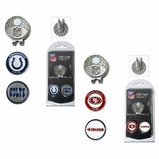 NFL Team Golf Cap Clip with 2 Magnetic Enamel Ball Markers * Pick Your Team *