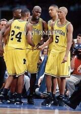 Fab 5 Five Michigan Wolverines Basketball J. Rose Chris Webber 8x10 11x14 Photo