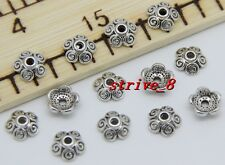 30/100/500pcs Tibetan Silver Flower Bead Caps Jewelry Charms Beads Cap DIY 8x3mm