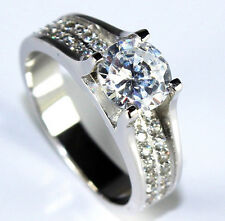 925 Sterling Silver 1ct Diamond Wedding Engagement Ring FREE SHIPPING