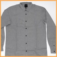 QUIKSILVER Mens Shirt *Size:M XL * NEW Long Sleeve Top Authentic Brand GREY