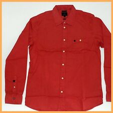 QUIKSILVER Mens Shirt *Size:S M L * RED Long Sleeve Top-Genuine-AUSSIE SELLER