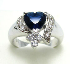 Women's Nice Fashion Jewelry 10KT White Gold Filled Sapphire Ring Size:7 8 9