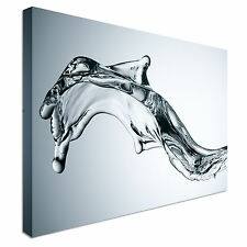 Dolphin Shaped Water Splash Canvas wall Art prints high quality great value