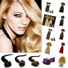1g/s Double Drawn Remy Human Hair Extensions Pre Bonded Nail U Tip 18''20''22''