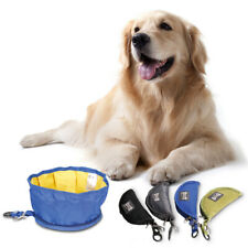 1pc Waterproof Foldable Pet Dog Cat Bowl Food Feeder Dish for Camping Travel