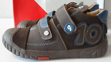 Boys Brown Leather Suede Boots Winter Shoes UK 10.5,12,13 Garvalin New Free Post