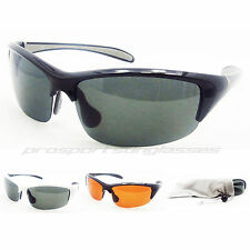 Sport Polarized Sunglasses light weight half frame wrap around style Asian Fit