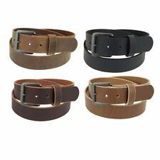 "Genuine Buffalo Hide Leather Belt_1 1/4""_Amish Handmade_Gun Metal Finish Buckle"