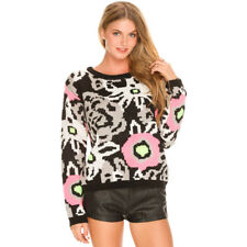 New Mink Pink Flower Frenzy Knit in Multi-Coloured | Womens Knits