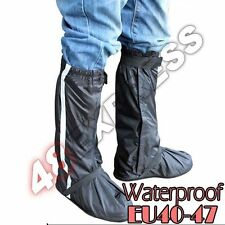 New Motorcycle Rain Boot Cover Waterproof Biker Gear Shoes Size EU40-47