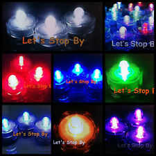 24 48 Submersible Waterproof Tea Candle Wedding Party Floral LED lights DL