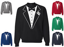 Funny Tuxedo Crew neck Sweatshirt Wedding Gift Groom Tux Prom Bachelor Party