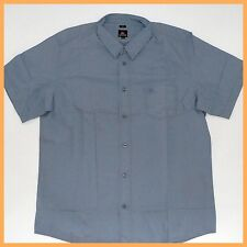 QUIKSILVER Mens Shirt *Size: L * BLUE Short Sleeve Top Genuine Brand NEW