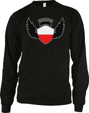 Poland Flag Wings Crown Polish Pride Polska Flaga Duma Long Sleeve Thermal
