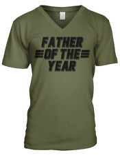 Father of the Year Dad Papa Daddy Fathers Day Present Gift Mens V-neck T-shirt