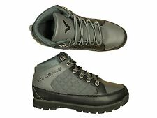 MENS BRAND NEW VOI JEANS HUMMER GREY BLACK HI TOP BOOTS ALL SIZES 6 TO 12
