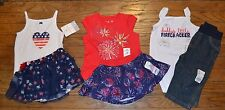 Jumping Beans 4th of July Outfit Red White Blue Top & Jeans or Skirt 6 to 18 Mon