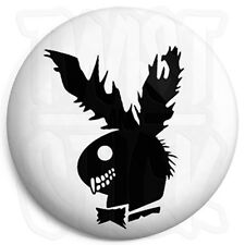Playboy Zombie Bunny Logo - 25mm Horror Button Badge with Fridge Magnet Option