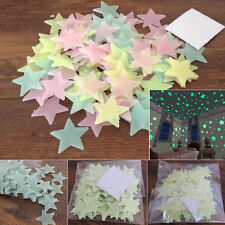 100x Glow In The Dark Stars Wall Sticker Kids Bedroom Nursery Room Ceiling SOZ