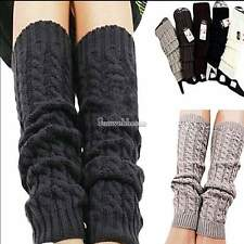 Girls Women Knit Crochet Legwarmers soft Socks Ladies Leg Warmers Leggings SH