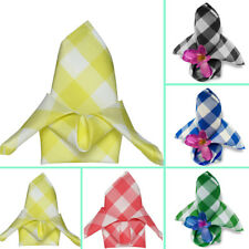 """50 pcs 15x15"""" Checkered Polyester NAPKINS Event Party Picnic Linens"""