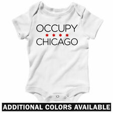 Occupy Chicago One Piece - 99 Percent Activist Baby Infant Creeper Romper NB-24M