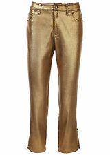 Bodyflirt Ladies' Jeans Pants 7/8 Jeans Pants Chinos Chinos Gold 932522