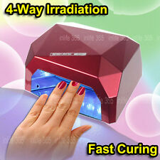 36W Nail Art CCFL LED UV Gel Curing Cure Lamp Timer Dryer Nail Polish Sensor