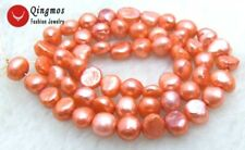 "SALE Small 5-6mm Natural red Freshwater BAROQUE Pearl Loose Beads 14""-los465"