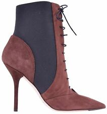 DOLCE & GABBANA Suede Booties Boots Shoes Brown 04000