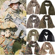 Unisex Men Camouflage Camo Army Hunt Mesh Breathable Scarf Wrap Mask Face Veil