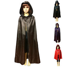 Kids Hooded Cloak Witchcraft Cape Halloween Costume for Girls Boys