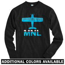 Fly Manila MNL Airport Long Sleeve T-shirt LS - Philippines Pinoy - Men / Youth