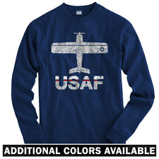 Fly USAF Air Force Long Sleeve T-shirt LS - US Academy Pilot Plane - Men / Youth