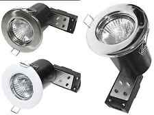 20 X FIRE RATED GU10 DOWNLIGHTS FIXED RECESSED CEILING  LIGHTS 240V MAINS